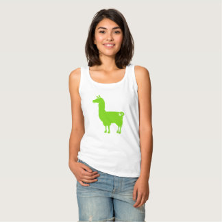 Green Llama Ladies Tank Top