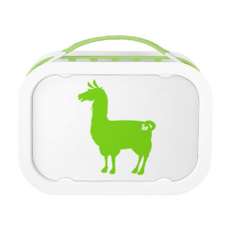 Green Llama Lunch Box