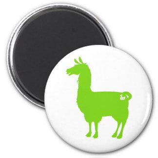 Green Llama Magnet