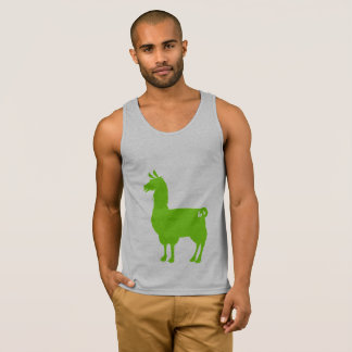 Green Llama Tank Top