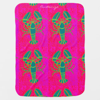 green lobsters Thunder_Cove pink Baby Blanket