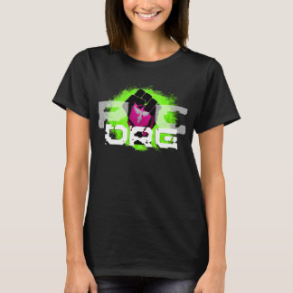 Green Logo T-Shirt: Women's Black T-Shirt