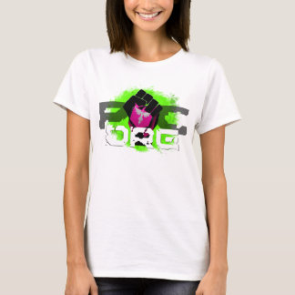 Green Logo T-Shirt: Women's White T-Shirt