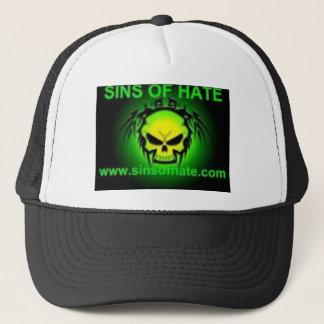 Green logo trucker hat