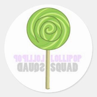 Green Lollipop Classic Round Sticker