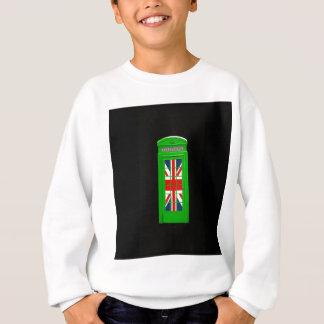 Green London phone box Sweatshirt
