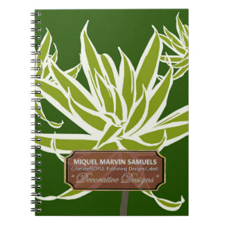 Green Long Leaves Decorative Modern Notebook