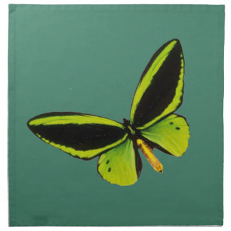 Green longwing butterfly design napkins