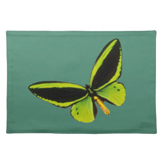 Green longwing butterfly design placemats