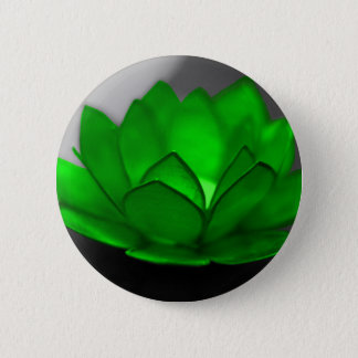 Green Lotus 6 Cm Round Badge