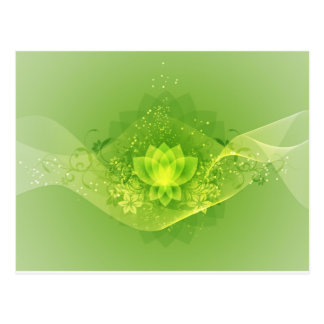 Green Lotus Flower Post Card