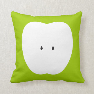 Green Love Apple Summer Fun Throw Pillow
