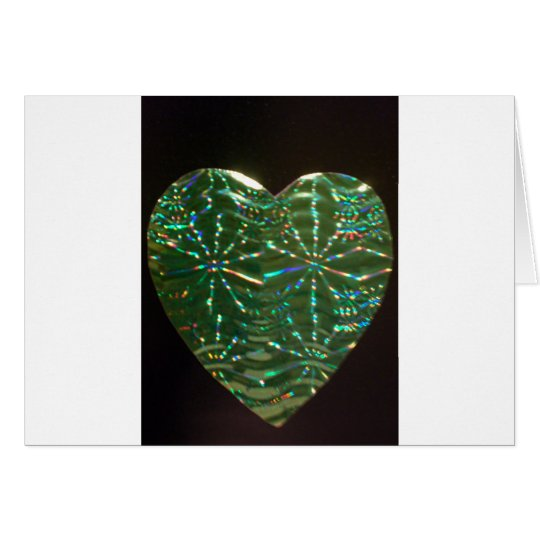 Green Love Heart Card