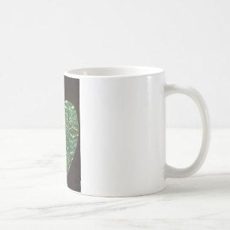 Green Love Heart Coffee Mug