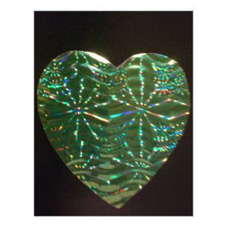 Green Love Heart Custom Flyer