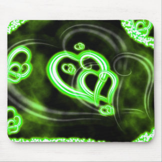 Green Love Mouse Pad