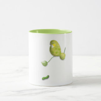 Green lovebird mug by ORDesigns.