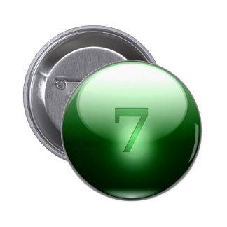 Green Lucky 7 Pin