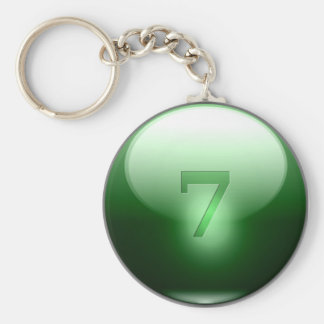 Green Lucky 7 Key Ring