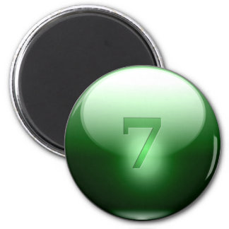 Green Lucky 7 Magnets