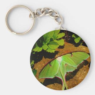 Green Luna moth Keychain