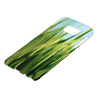 Green Lush Grass close one Up Samsung case