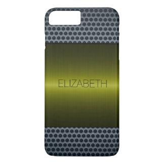 Green Luxury Stainless Steel Metal Look iPhone 7 Plus Case