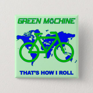 Green Machine 15 Cm Square Badge