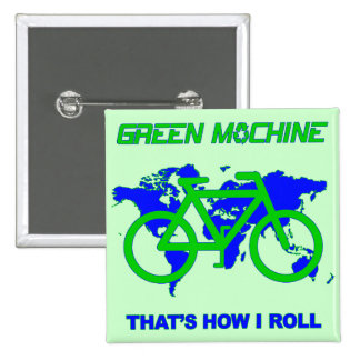 Green Machine 15 Cm Square Badge