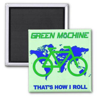Green Machine Square Magnet