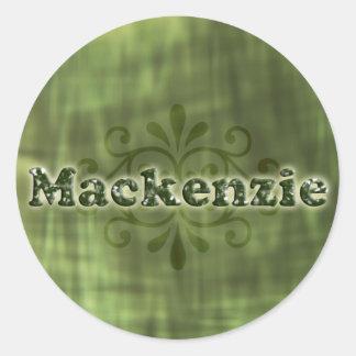 Green Mackenzie Round Sticker