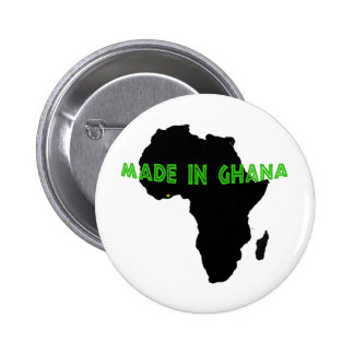 Green Made in Ghana Pinback Buttons