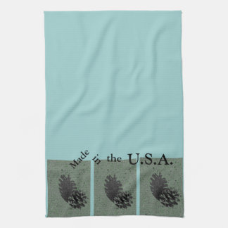 Green & Made in the USA Tea Towel