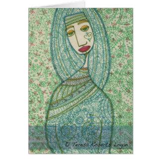 Green Madonna Card