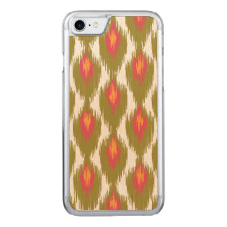 Green Magenta Abstract Tribal Ikat Diamond Pattern Carved iPhone 8/7 Case