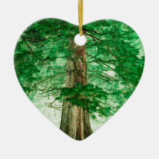 Green magic ceramic heart decoration