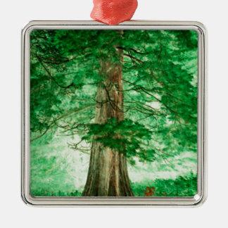 Green magic Silver-Colored square decoration