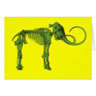 Green Mammoth Skeleton Card