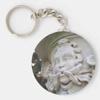 Green Man Basic Round Button Key Ring