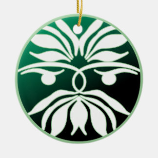 Green Man Double-Sided Ceramic Round Christmas Ornament