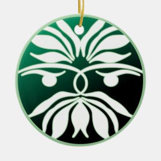 Green Man Round Ceramic Decoration