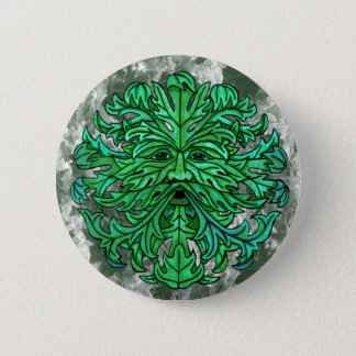 Green Man Gaze 6 Cm Round Badge