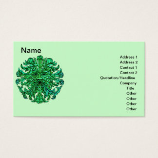 Green Man Gaze Business Cards