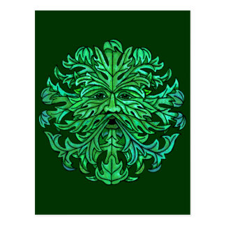 Green Man Gaze Postcard