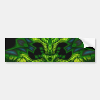Green Man Goblin – Emerald and Gold Mask Bumper Sticker