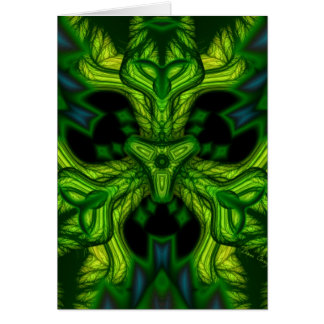 Green Man Goblin – Emerald and Gold Mask Greeting Card