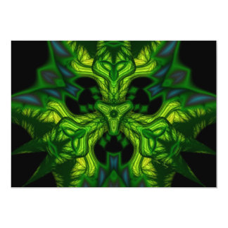 "Green Man Goblin – Emerald and Gold Mask 5"" X 7"" Invitation Card"