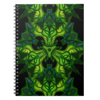 Green Man Goblin – Emerald and Gold Mask Spiral Notebooks