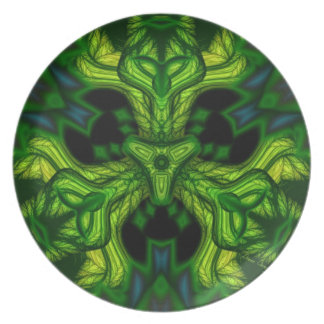 Green Man Goblin – Emerald and Gold Mask Party Plate