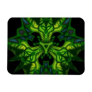Green Man Goblin – Emerald and Gold Mask Rectangular Magnet